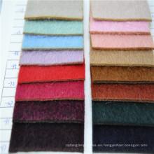 cabello largo Mezclas de lana / alpaca Tela de lana para el abrigo