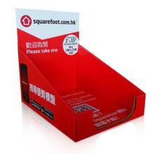 Armazene a exposição do contador de livro do cartão da promoção, caixa de exposição do livro do cartão, exposição do cartão da parte superior contrária do livro