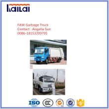 Camión de basura compactado Jiefang para la venta Tratamiento de residuos