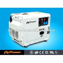 5KW ITC-Power Gerador Diesel, gerador diesel silencioso, gerador portátil