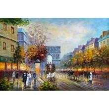 Venda Por Atacado Wall Art Paris Rua Pinturas a Óleo (EPS-036)