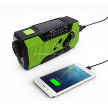 Alarme de rádio da lanterna elétrica solar Multi-function