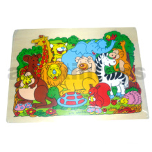 Wooden Zoo Animals Puzzle (80896)