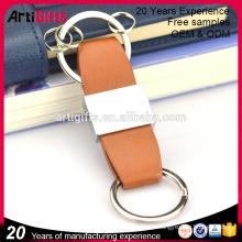 Cadeaux promotionnels boucle porte-clés en cuir fob pour les femmes