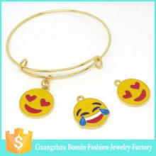 2016 personalisierte endlose Schmuck Mode Gold Charm Emoji Armband