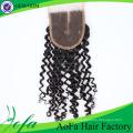 Extensión rizada rizada natural del cabello humano del 100% / extensión brasileña del pelo de la Virgen / pelo humano