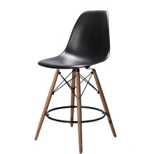 Wholesale cheap furniture Nordic design plastic wood stool dining high bar stool chair