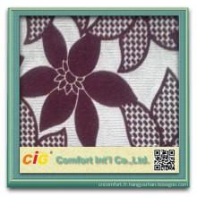 2015 nouveau Design100% polyester flocage / floqué / usine de tissu de troupeau pour le sofa / tapisserie d'ameublement / textile à la maison