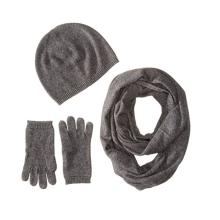 PK18A26HX Cachemire cadeau coffret femme - chapeau, gants, écharpe
