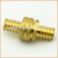 Brass barbed hose fittings