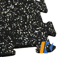 Linkable Rubber Gym Floor Mat / Rubber Gym Flooring Tile