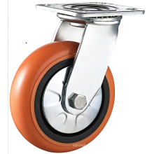 Heavy Duty Korean Style PU Wheel Caster, Double Ball Bearing