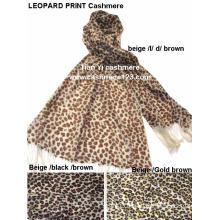 100%Wool Leopard Print Shawl