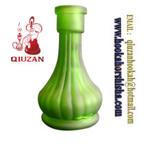 Big Size Green Crystal Material Glass Vase Hookah Bottle