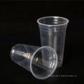500 мл пользовательских PP материал одноразовые прозрачные пластиковые чашки сока
