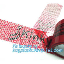 Waterproof Tamper Evident Security Adhesive Tape, Anti-counterfeiting Tapes Security Void Tape, Anti-counterfeit Easy Tear Tape