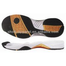 suela de zapato al por mayor / 2013 últimas suelas de tenis y bádminton