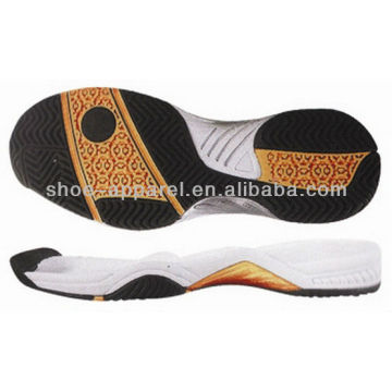 wholesale shoe sole/2013 latest tennis and badminton soles