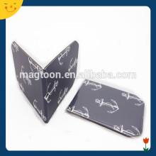 Dark color print paper cool magnet bookmark