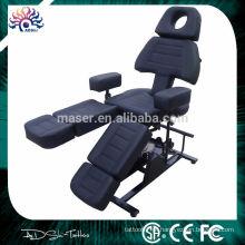 Cadeira preta dobrado do tatuagem da alta qualidade, cama moderna do tatuagem, mobília do tatuagem do salão de beleza