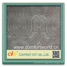 Mode nouveau design assez élégant en gros polyester noir tissu