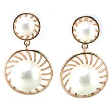 Nuevo diseño para la joyería de plata del pendiente 925 de la perla de la mujer de la manera (E6530)