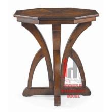 Mesa de centro redondo de madeira