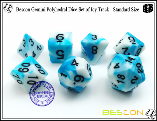 Bescon Gemini Dice Set of Icy Track-3