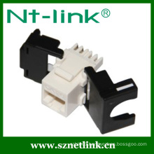 180 degree Tooless Type RJ45 Cat6 UTP Keystone Jack