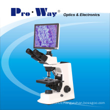 Professional Video Digital LCD Screen Biological Microscope with Software (PW-BK2000LCD)