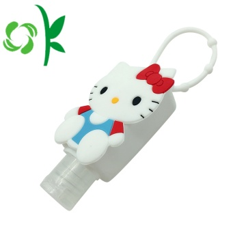 Kucing Lovely Anti-bakterial Alkohol Sanitizer Pemegang silikon