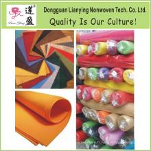 Tissu en polyester non tissé Diverses couleurs Feutre