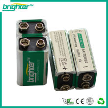 CHINA 6f22 9v heavy duty Mp3 Players battery factory with alkaline battery