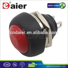 Interruptor de botón momentáneo Daier Interruptor de botón mini