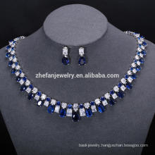 big cubic zirconia stones set party jewelry set wholesale jewelry lots