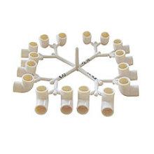 Tee de cavidades de PVC Fittings16