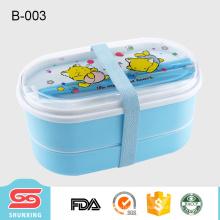 nueva caja de almuerzo portátil del bento del recorrido del estilo a prueba de filtraciones para los niños