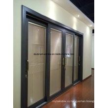 Двухслойные наружные стеклянные раздвижные двери (SD7150)