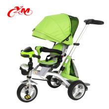 фабрика оптовая низкая цена ребенка подтолкнуть трехколесный велосипед/лучшее качество трехколесный велосипед с навесом/маленьких детей трехколесный велосипед для 1 года