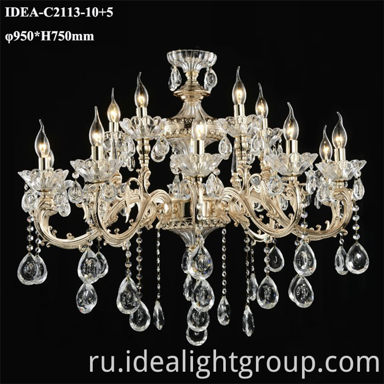 chandeliers candle lighting