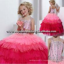 2013 nouvelle robe à billes perlée sur mesure robe de fille fille fleur CWFaf4444