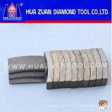 Segmento de puntas de núcleo diamantado para reforzar el hormigón