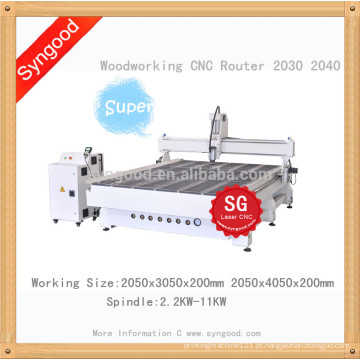 Mobília de madeira grande da madeira para o CNC do roteador de SG 2.0 * 3.0m
