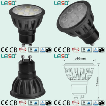 Holofotes LED de cor preta com pelo menos 500lumen