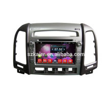 Quad core dvd player for car,wifi,BT,mirror link,DVR,SWC for Hyundai santafe 2010-2012 low level