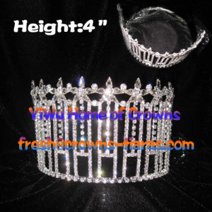 Clear Diamond Pageant Queen Crowns