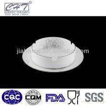 Durable white bone china ceramic custom cigar ashtray