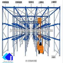 China Paletización de alta densidad de la plataforma de la solución del almacenaje del almacén Impulsión en estante