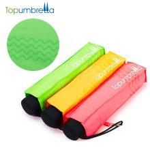 guarda-chuva de dobramento do presente da propaganda fluorescente da proteção da cor 99% uv do fashional