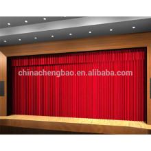 Cortina roja de la etapa de la tela del terciopelo para el teatro